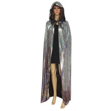 Hot Vampire Psychic Hooded Long Cloaks Capes Halloween Fancy Dress Costume Adult X09