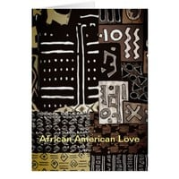African American Love Card