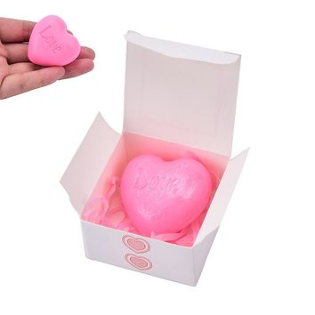 N2HAO Party Favor 1pc Soap Handmade Love Heart-shaped Design Bath Soap Wedding Party Love Gift Valentine Gift
