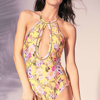 Beach Riot Golden One-Piece Swimsuit - Urban Outfitters