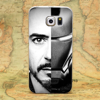 Super The Iron Man Robert Downey Jr Custom hard transparent clear Skin Cover Case for samsung galaxy s3 s4 s5 mini s6 s7 edge