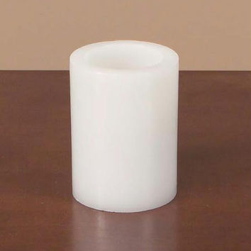 Battery Operated Flameless Candle - Timer Can Be Set To To Burn 4 Or 8 Hours