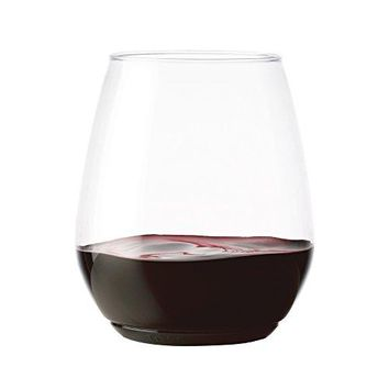 TOSSWARE 18oz Tumbler  recyclable wine plastic cup  SET OF 12  stemless shatterproof and BPAfree wine glasses