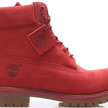 Men's TIMBERLAND - 6-INCH PREMIUM BOOTS (RED)