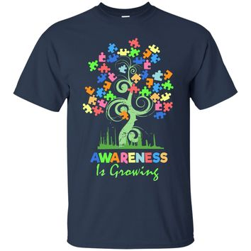 Autism Awareness Tree - Awareness Is Growing Shirts And Hoodies