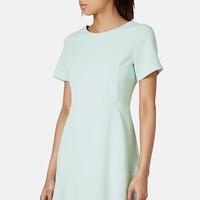 Topshop Flared Crepe Dress