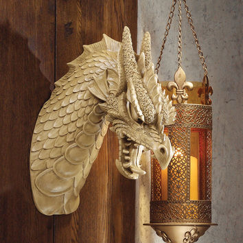 Park Avenue Collection Head Of The Beast Dragon Plaque