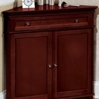 "Hampton Bay 32""w Corner Cabinet With Two Wood Doors, WOOD DOORS, HAZEL BROWN"