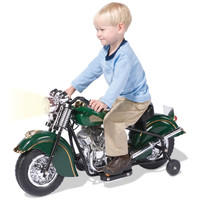 The Children's Electric 1948 Indian Motorcycle - Hammacher Schlemmer