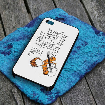 Ed Sheeran Lyrics iPhone 5 Case by gardenpiano on Etsy