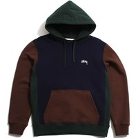Color Blocked Hoodie Navy