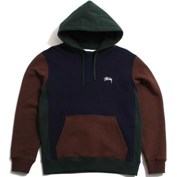 Color Blocked Hoody Navy