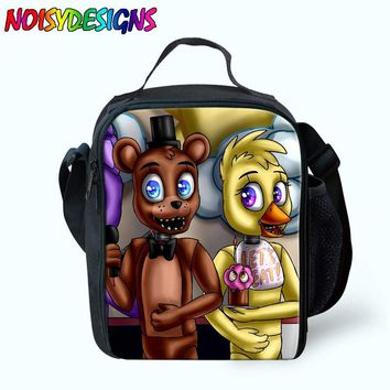 Five Night At Freddy Lunch Bags For Women Kids Tote School Picnic Pack Boys Girls Insulated Termica Food Cooler Bag ping