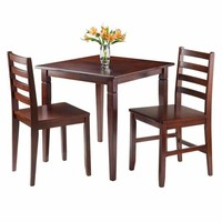 Kingsgate 3-Pc Dinning Table with 2 Hamilton Ladder Back Chairs