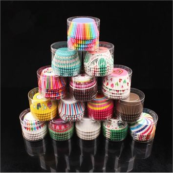 100PCS Muffins Paper Cupcake Wrappers Baking Cups Cases Muffin Boxes Cake Cup Decorating Tools Kitchen Cake Tools