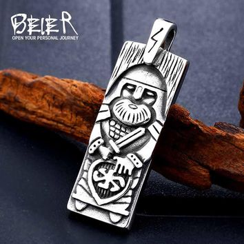 Stainless Steel Amulet Legendary The Vikings Odin's Pendant Necklace Viking Nordic Talisman Jewelry