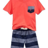 Nautica Baby Boys' 2-Piece Tee & Shorts Set
