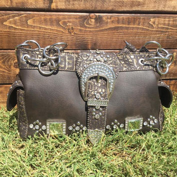 Black Montana West Gun Concealment Purse
