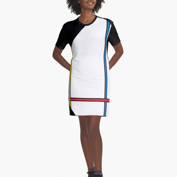 "'""geometric art 329""' Graphic T-Shirt Dress by BillOwenArt"