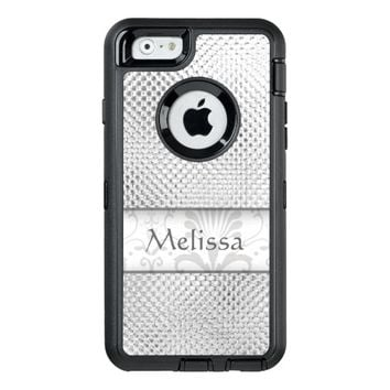 Designer Silver Metallic Pattern Personalized OtterBox iPhone 6/6s Case