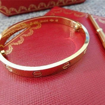 One-nice? Cartier Love Bangle Bracelet in 18k Yellow Gold size 18 Screwdriver/BOX