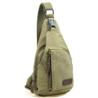 Vintage Men Messenger Bags Casual Outdoor Travel Hiking Sport Casual Chest Canvas Male Small Retro Military Shoulder Bag