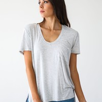 Free People Grey Rising Sun Tee - Luca + Grae