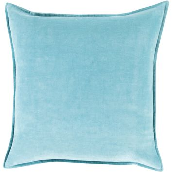 Simone Velvet Toss Pillow AQUA