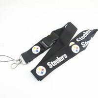 Football Pittsburgh Steelers Keychain Lanyard Neck Strap Key Ring For ID Pass Card Badge Gym Key Mobile Phone USB Holder Lanyard