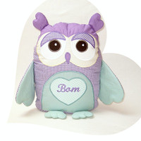 Owl Pillow, Organic Owl, TOY Stuffed Animal Baby Shower Gift