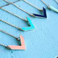 Canton of Avery Chevron Pendant Necklaces