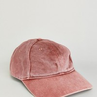 Reclaimed Vintage Washed Baseball Cap In Rust