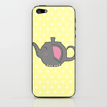 Elephant Teapot iPhone & iPod Skin by KJ53321 | Society6