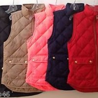 J. Crew Excursion Quilted Puffer Vest NWT Size: XS-XL