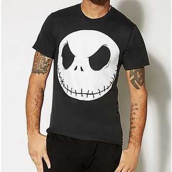 Nightmare Before Christmas Jack Head T shirt - Spencer's