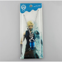 Final Fantasy Blue Stone Necklace Game Cosplay Pendant Jewelry Vii 7 8