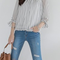 Spend Striped Blouse