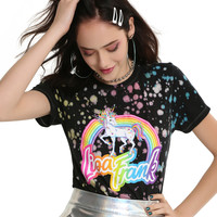 Lisa Frank Splatter Unicorn Girls T-Shirt