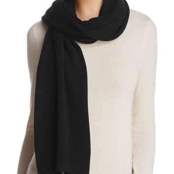 Solid Oversized Cashmere Wrap by Collection C