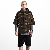 Men Camo Top Sweater Pullover Sweatshirt Hoodie