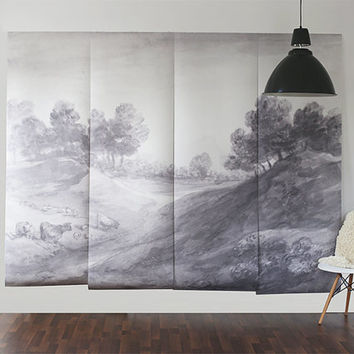 """Shaded Landscape Wall Mural, Wallpaper, Scenic Mural - 100"""" x 80"""""""