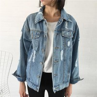 Women Denim Vintage  Jacket