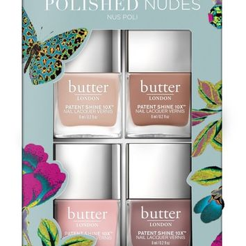 butter LONDON Polished Nudes Patent Shine 10x™ Nail Lacquer Set (Limited Edition) (Nordstrom Exclusive) | Nordstrom