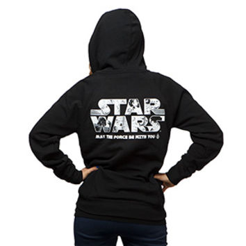 Anime May the Force Be With You Ladies' Hoodie