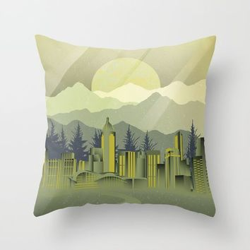 Skyscrapers Throw Pillow by Berwies