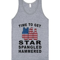 time to get star spangled hammered grey tank-JH-Athletic Grey Tank