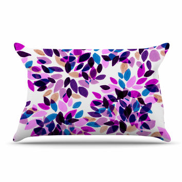 "Ebi Emporium ""Dahlia Dots 3"" Pink Purple Pillow Sham"