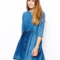 ASOS Denim Tilted Smock Dress
