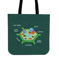 Plant Biology Linen Tote Bag