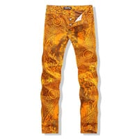 Winter Print Men Club Pants Jeans [6541743555]
